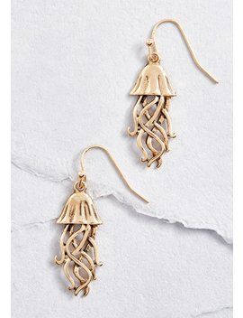 Fanciful Tentacles Jellyfish Earrings by Modcloth