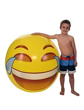 Emoji Universe: Gigantic 56 Tears Of Joy Beach Ball; Almost 5 Feet! by Kangaroo