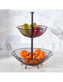 Carter 2 Tier Matte Black Fruit Basket by Crate&Barrel