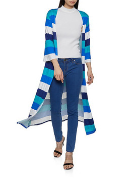 Striped Soft Knit Duster by Rainbow