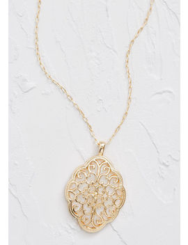 Full On Filigree Pendant Necklace by Modcloth