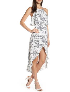 Stella Print High/Low Popover Dress by Elizabeth Crosby