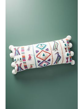 Embroidered Varenya Pillow by Anthropologie