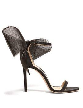 Aveline 100 Grosgrain Bow Sandals by Jimmy Choo