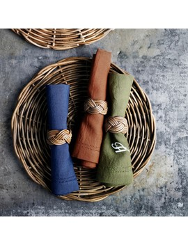 Linen Double Hemstitch Napkins by Williams   Sonoma