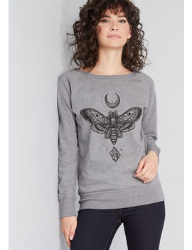 By Word Of Moth Graphic Pullover by Modcloth