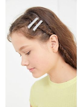 Disco Rhinestone Hair Clip Set by Urban Outfitters