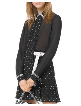 Studded Tie Detail Shirt by Michael Michael Kors