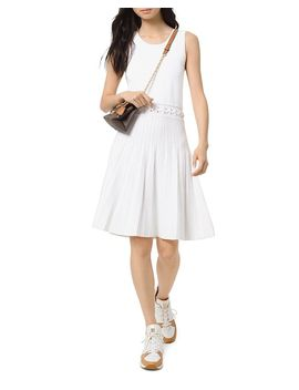 Grommet And Lacing Trimmed Dress by Michael Michael Kors
