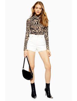 Tall Premium Denim Mom Shorts by Topshop