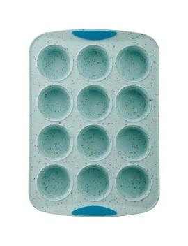 Trudeau Silicone 12ct Muffin Pan Blue Confetti by Trudeau