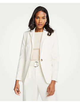 The Hutton Blazer In Doubleweave by Ann Taylor