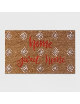 """18"""" X 30"""" Home Sweet Home Outdoor Doormat Coral   Opalhouse by Opalhouse"""