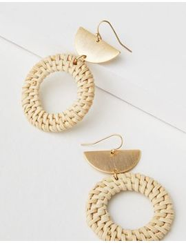 Ae Metal Raffia Earring by American Eagle Outfitters