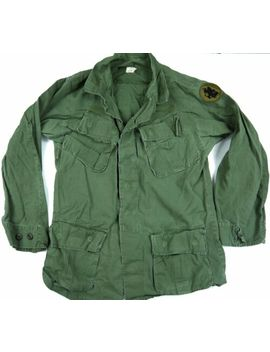 Vintage 60s Poplin Vietnam Era 1969 Jungle Jacket Og107 Army South S Reg by Ebay Seller