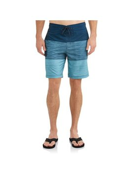 Men's Text Color Block Eboard Swim Short , Up To Size 5 Xl by George
