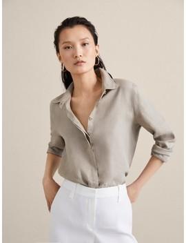 100 Percents Plain Linen Shirt by Massimo Dutti