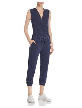 Crossover Cropped Jumpsuit by Sundry