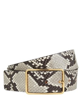 Mila Python Printed Leather Belt by B Low The Belt