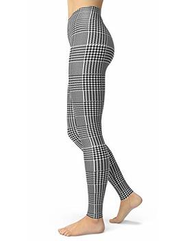 Women's Checkered Plaid Printed Leggings Stretchy Brushed Buttery Soft Tights by Sissycos