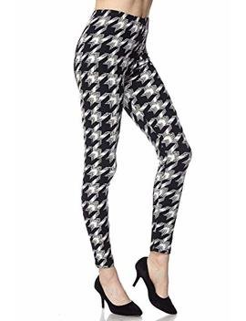 Itsallleggings Ultra Soft, Stretcy, Breathable And Comfortable High Waist Black/White Printed Leggings by Itsallleggings