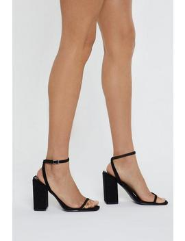 Don't Square What You Think Block Heels by Nasty Gal