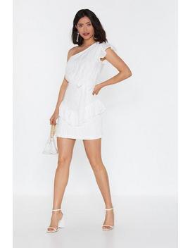 Burnout Stripe One Shoulder Mini Dress by Nasty Gal