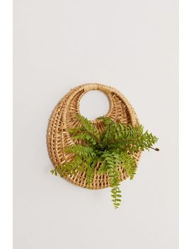 Woven Circle Hanging Basket Planter by Urban Outfitters
