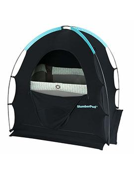 Slumber Pod Privacy Pod For Traveling With Babies And Toddlers: Easy To Set Up Blackout Dark And Private Sleeping Space   Canopy Compatible With Graco Pack 'N Play, Lotus Travel Crib, Baby Bjorn by Slumber Pod