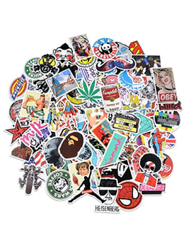 Cool Random Bulk Pack Of 100 Stickers Skateboard Snowboard Vinyl Bumper Sticker by Breezypals