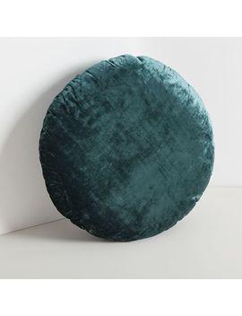 Round Lush Velvet Pillow   Green Gables by West Elm