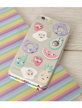 Multicoloured Food Eyes I Phone 6/6s/7/8 Case by New Look