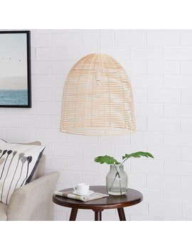 Walk Rattan 1 Light Bell Pendant by Wayfair