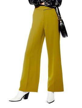 D Ring Wide Leg Trousers by Topshop