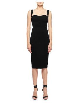 Sweetheart Neck Sleeveless Dress by Victoria Beckham