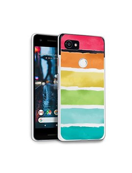 Hello Giftify Google Pixel 2 Xl Case, Rainbow Watercolor Tpu Soft Gel Protective Case For Google Pixel 2 Xl by Hello Giftify