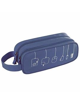 Universal Cable Cord Holder Organizer/Electronics Accessories Case Healthcare & Grooming Kit Usb Drive Shuttle An All In One Travel Organizer (Blue) by Kitron