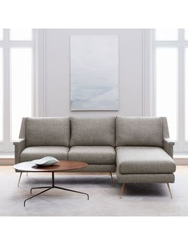 Carlo Mid Century 2 Piece Chaise Sectional by West Elm