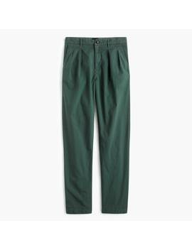 Double Pleated Pant In Garment Dyed Canvas by J.Crew
