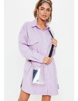 Lilac Super Oversized Boyfriend Shirt by Missguided