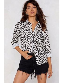 Look Me In The Heart Relaxed Shirt by Nasty Gal