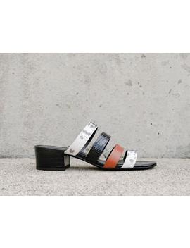 Irene Multi Strap Mid Heel Sandal   Final Sale by Freda Salvador