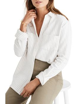 Sunday Stripe Flannel Shirt by Madewell