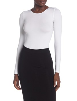 Crew Neck Long Sleeve Bodysuit by Wolford