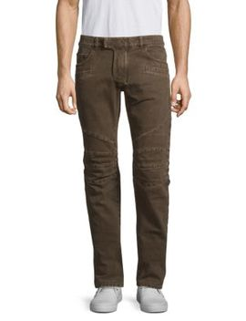 Marron Slim Fit Jeans by Balmain