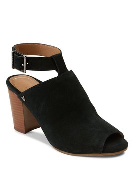 Kaia Suede Ankle Strap Block Heel Mules by Vionic