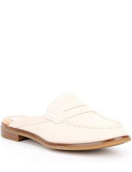 Women's Seaport Fina Nubuck Block Heel Penny Loafer Mules by Sperry