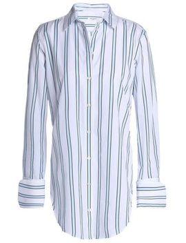Essential Striped Cotton Poplin Shirt by Equipment