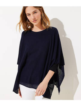 Lightweight Knit Poncho by Loft