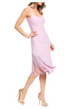 Rory Fringe Sheath Midi Dress by Dress The Population